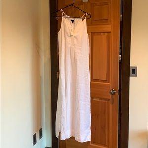 Off white new j crew linen dress